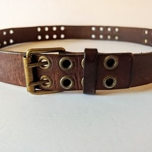 Accessories - Vintage Belt Two Prong Brown Leather Belt Size S